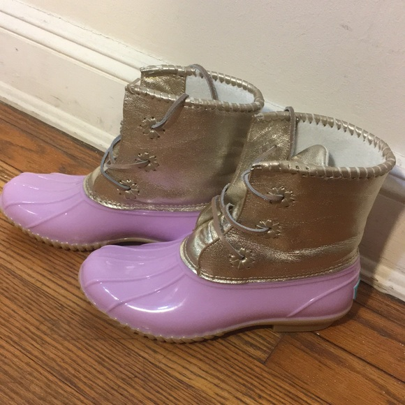 fd8b0ecfccb Jack Rogers Lilac metallic Chloe Duck boot